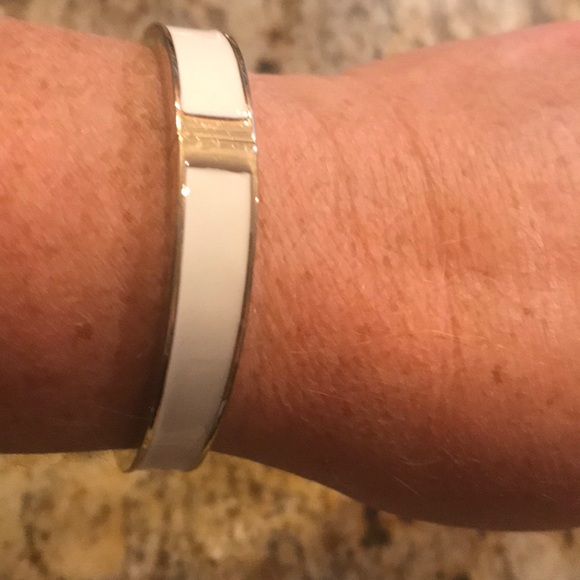 White snap closure bracelet